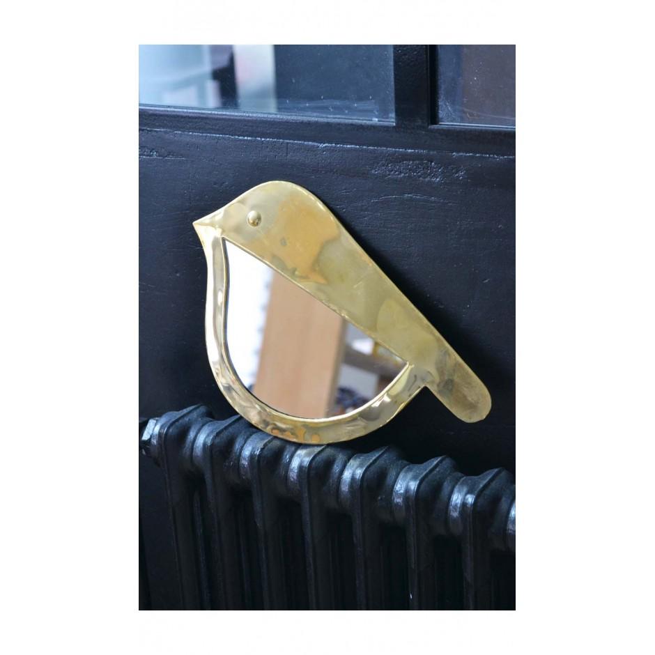 Miroir marocain forme oiseau en laiton