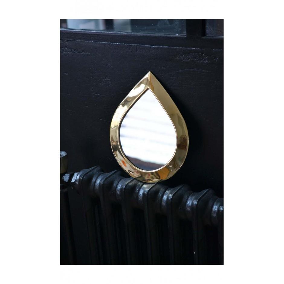 Miroir goutte marocain en laiton ( S-L )
