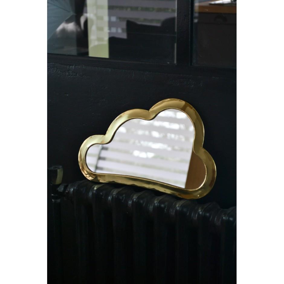 Miroir marocain forme nuage en laiton ( M-L )