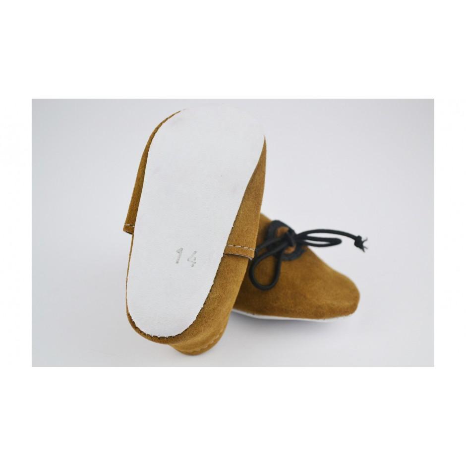Chausson en cuir kaki