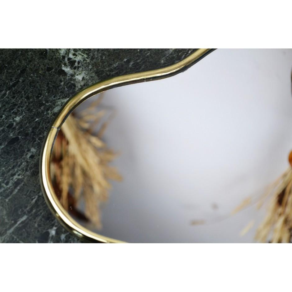 Miroir laiton étoile bord fin