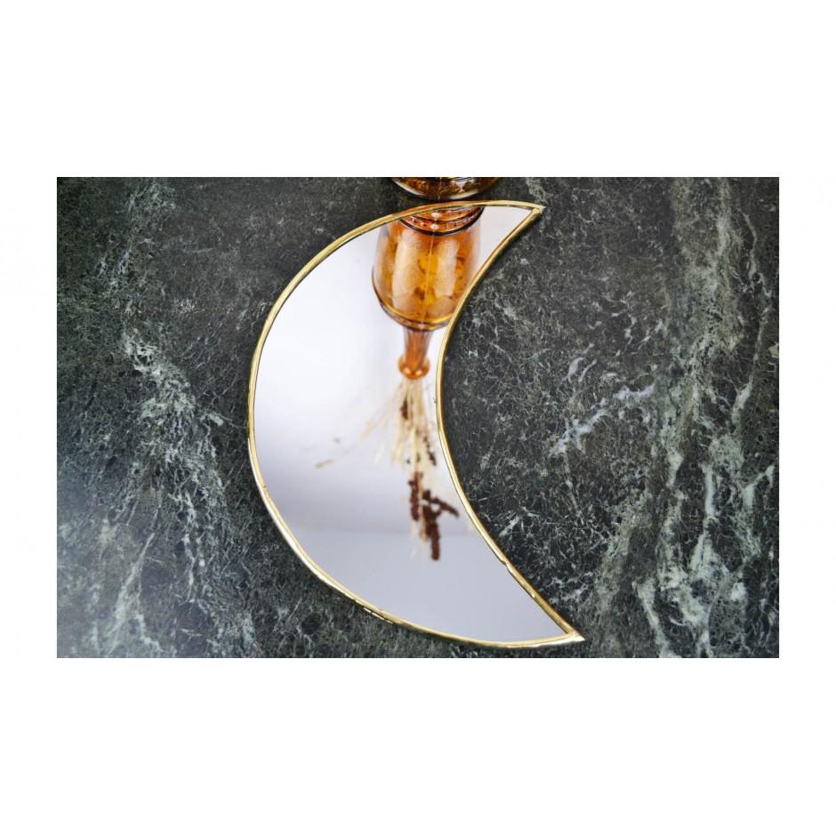 Miroir laiton lune bord fin