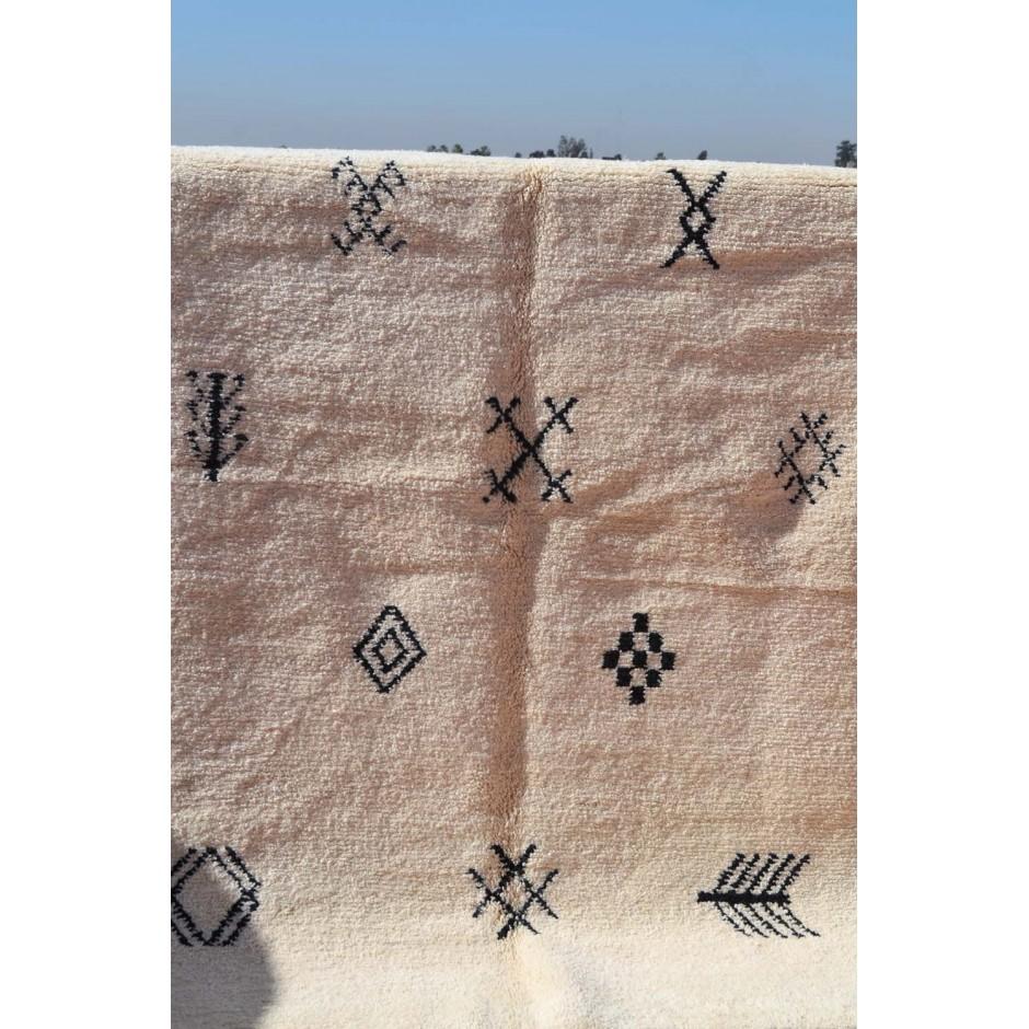 Tapis écru motifs berbères N°63