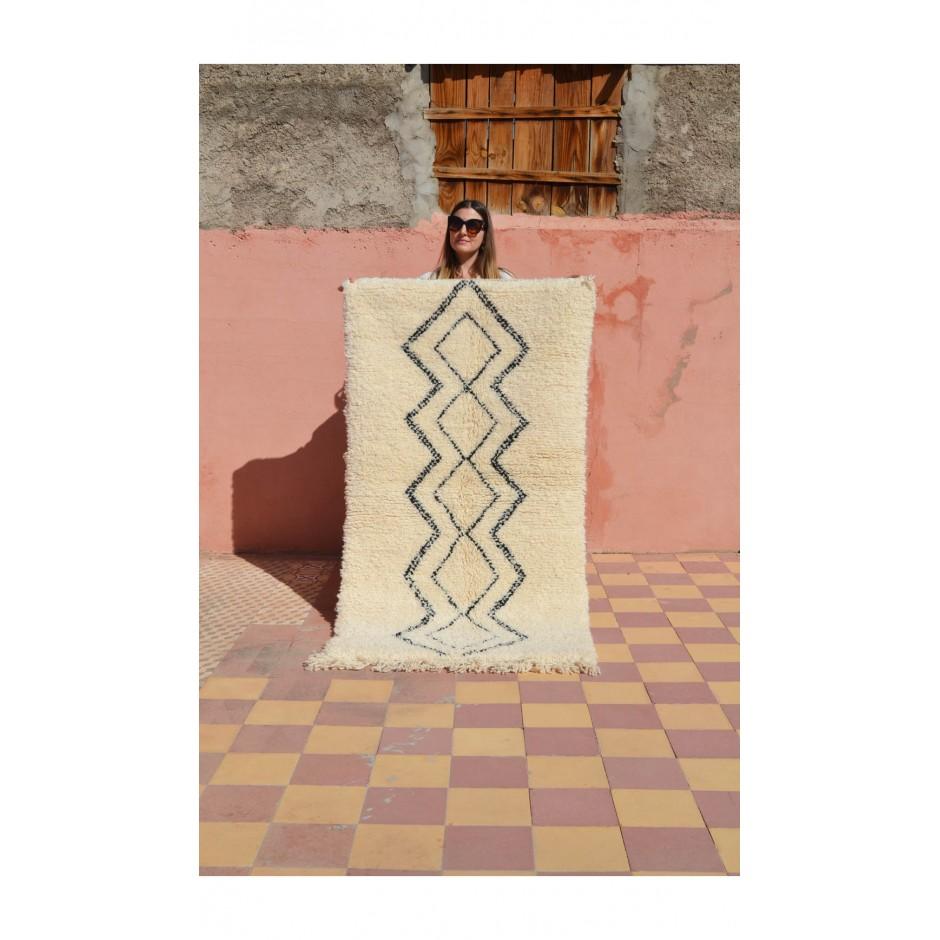 Tapis écru motifs géométriques N°76