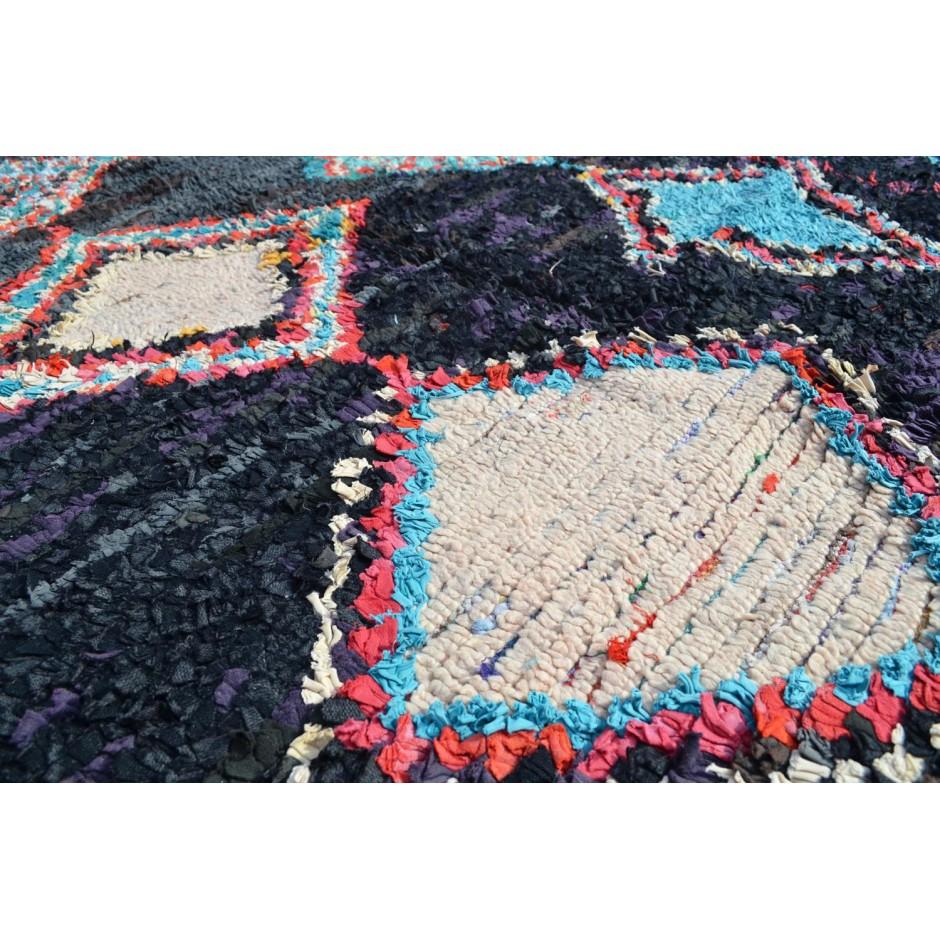 Tapis boucherouite multicolore N°87