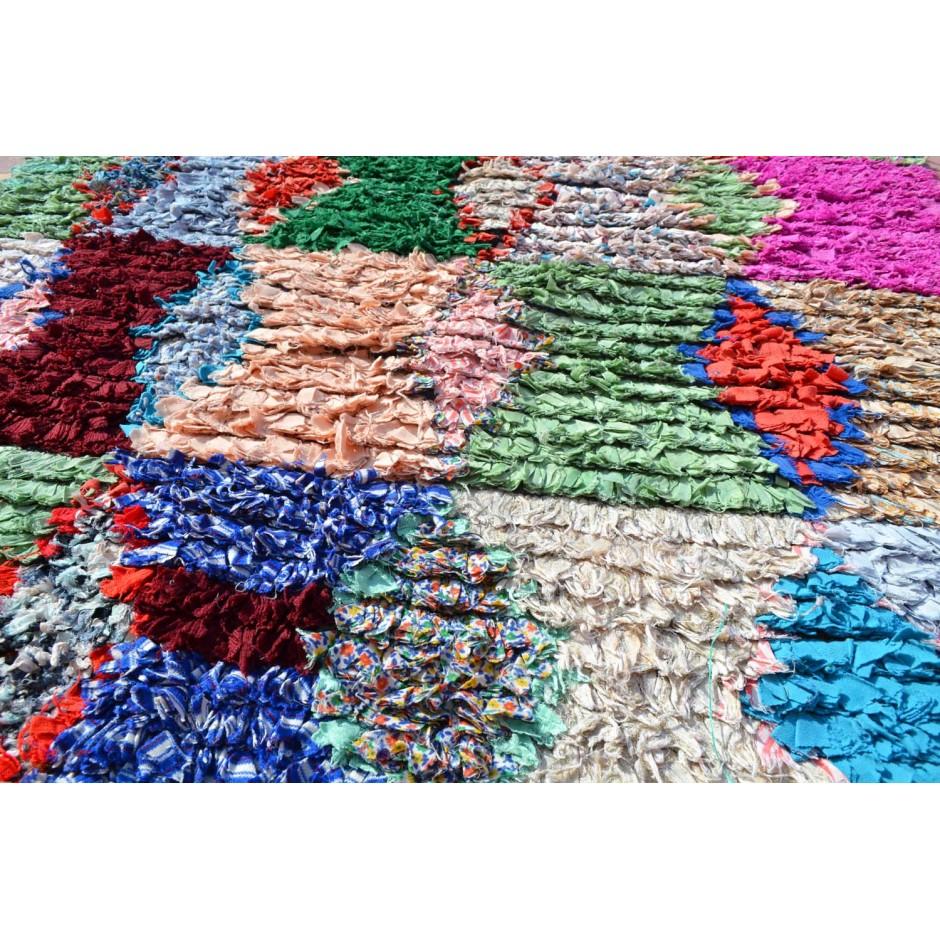 Tapis boucherouite multicolore N°89