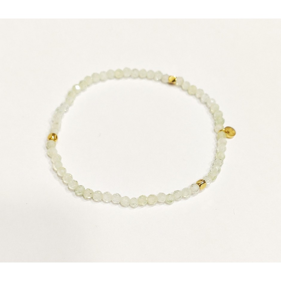 Bracelet acier élastique pierre