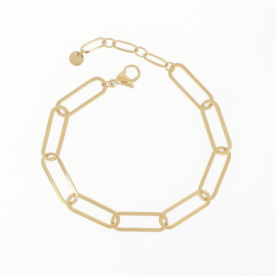 Bracelet acier grande maille