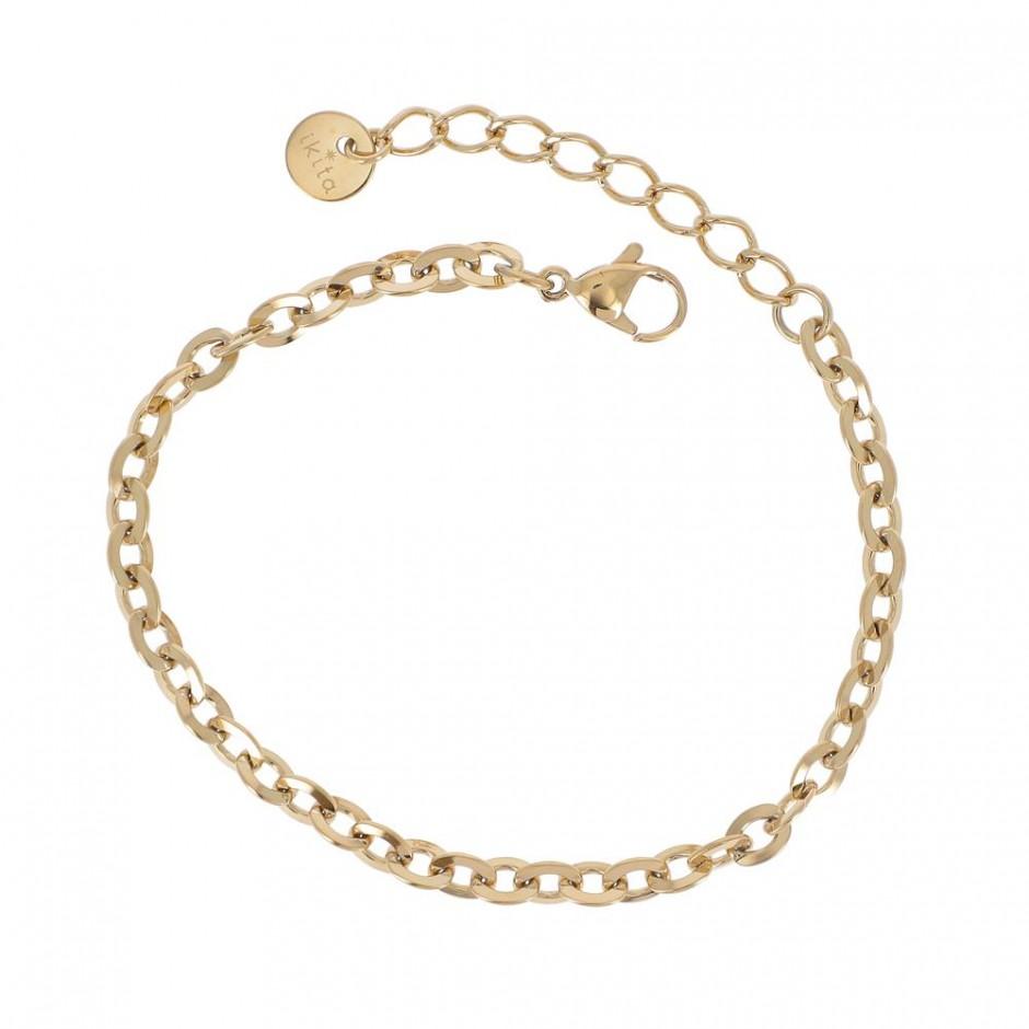 Bracelet acier maille ronde