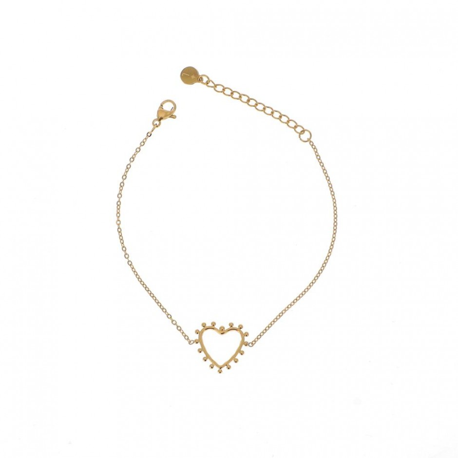 Bracelet acier motif coeur