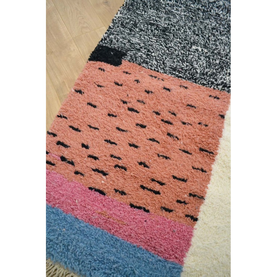 Tapis écru patchwork N°134