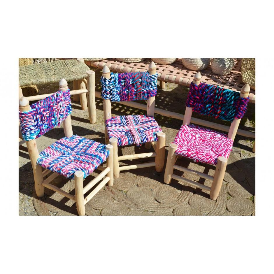 Chaise coloré marocaine