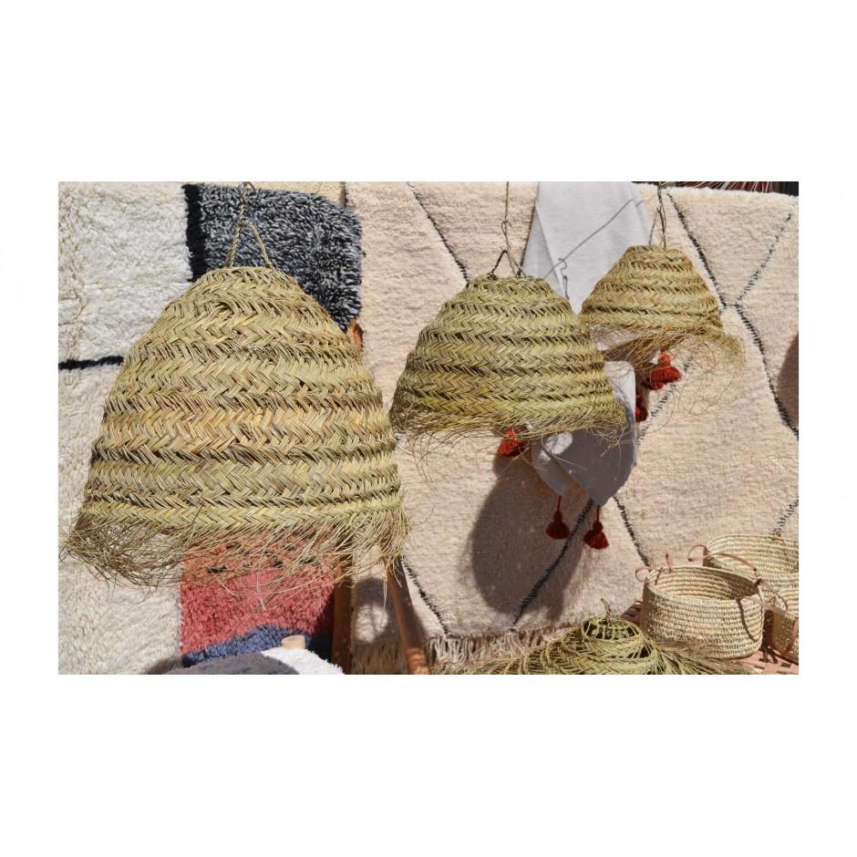 Abat jour bol marocain fait main en fibre naturelle