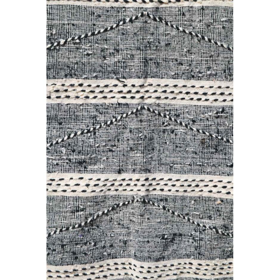 Tapis zanafi écru et noir N°149