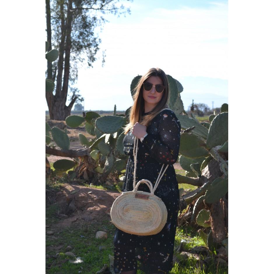 Petit panier ovale marocain anses corde