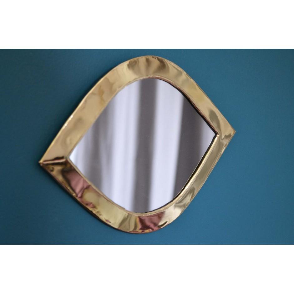 Miroir oeil marocain en laiton ( S-L )