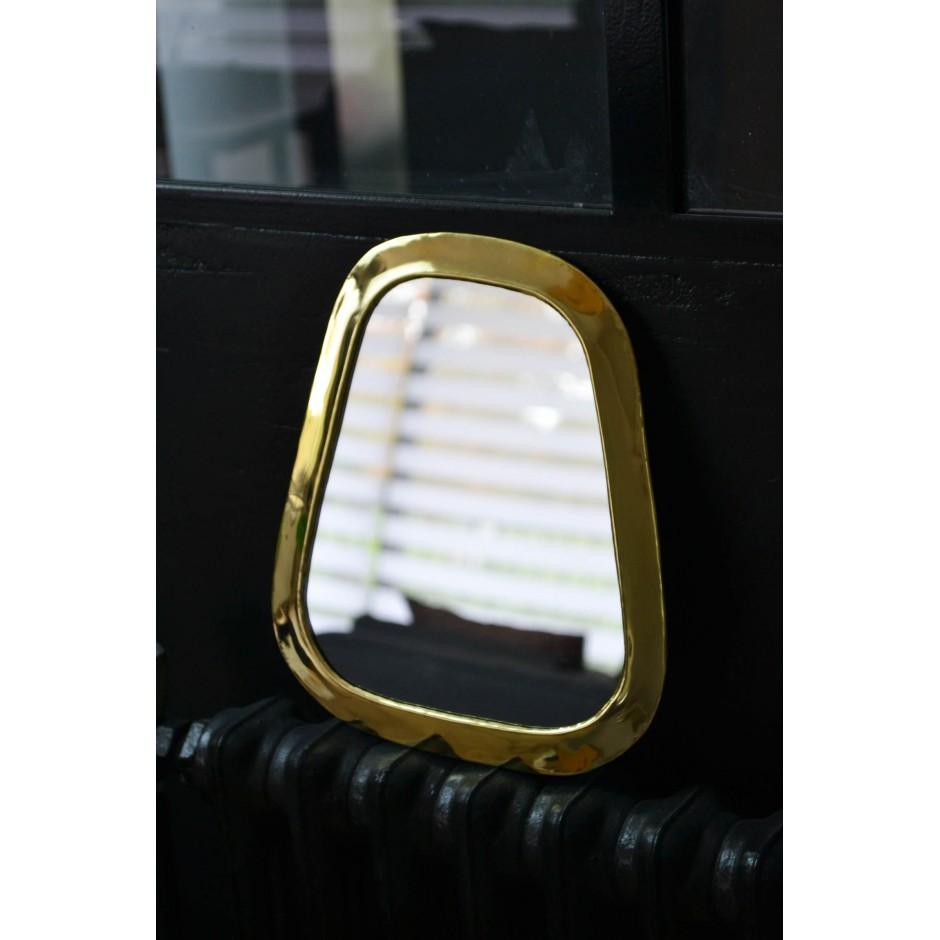Miroir rectangulaire arrondi marocain en laiton ( S-M-L-XL )